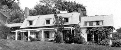 Image of Home of Dorothy Canfield Fisher, Arlington, Vermont. Postcard originally published by Francis A. Rugg