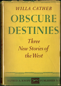 Cover of first edition of Obscure Destinies
