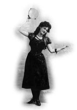 Image of a dancing bohemian girl