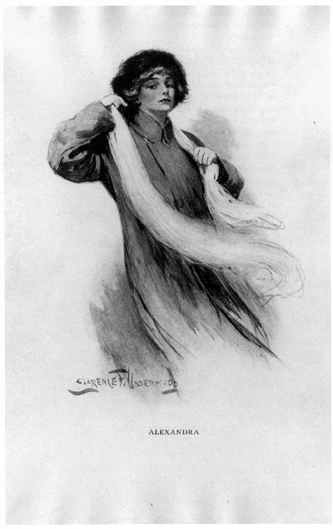 "Illustration from the first-edition captioned ""Alexandra,"" by Clarence Underwood."