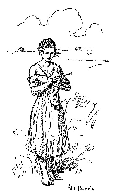Image of 'Lena knitting'