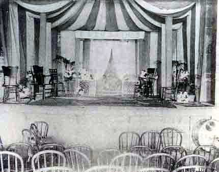 Photo of Red Cloud Opera House interior.