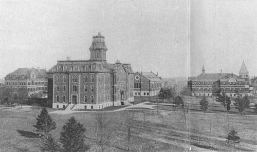 Photo of University of Nebraska campus in 1892.