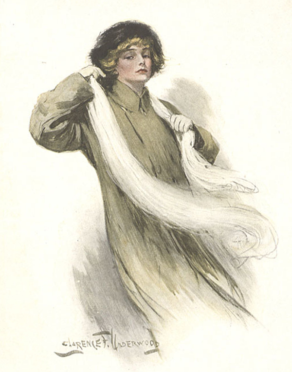 Clarence Underwood's color drawing of Alexandra Bergson
