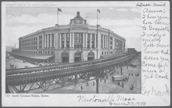 Postcard of South Boston Terminal Station, Boston