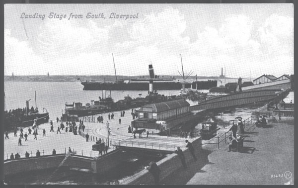 Postcard of the Liverpool docks