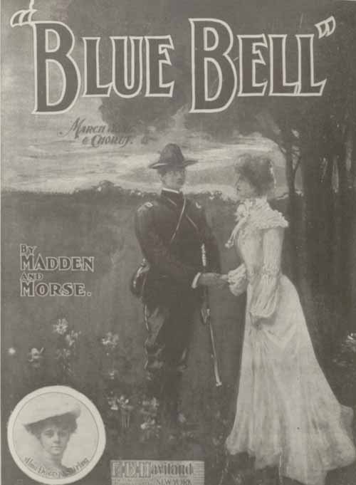 """Blue Bell"" song sheet cover."