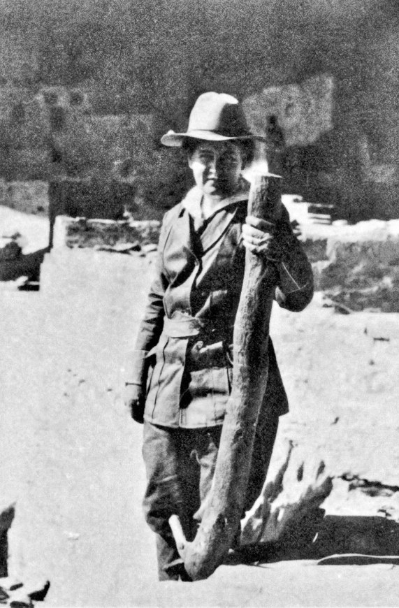 Cather, seen here at Cliff Palace on Mesa Verde in 1915, made several recreational excursions to the American Southwest.