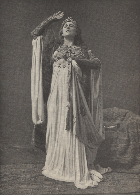 Illustration of Fremstad as Isolde.