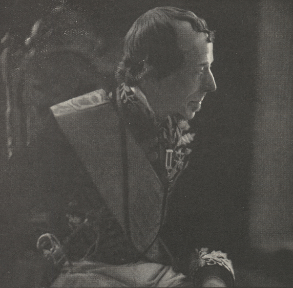 A profile of George Arliss as Disraeli.