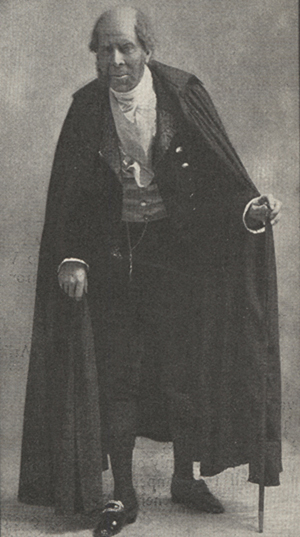 Arliss in costume as the Marquis of Steyne.