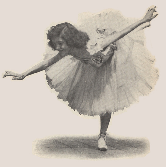 Female ballet dancer standing on one leg with her other leg out behind her and her arms stretched straight out to the side.