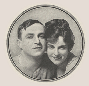 Head shots of male and female actor in a circle.