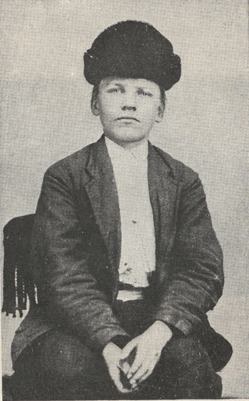 tintype of McClure at about ten years of age