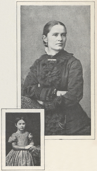 two photographs of Harriet Hurd