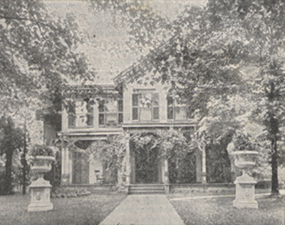 Photograph of the McKinley residence at Canton, Ohio.