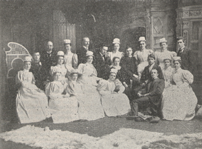 Photograph of a class of graduating nurses.