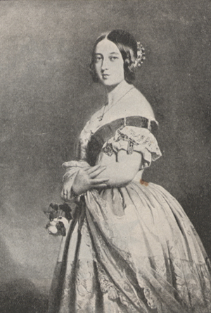 Portrait of Queen Victoria at twenty-one.