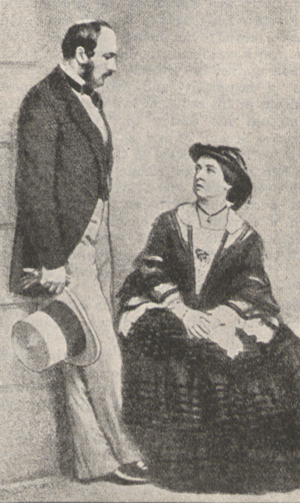 Portrait of Queen Victoria and the Prince Consort.