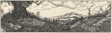 Illustration of landscape scene.