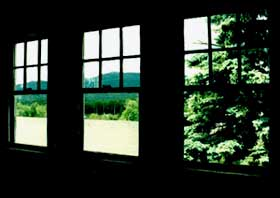 Image of A view of Mount Monadnock from Cather's sloped-ceiling room at the Shattuck Inn. Photo by Joyce McDonald