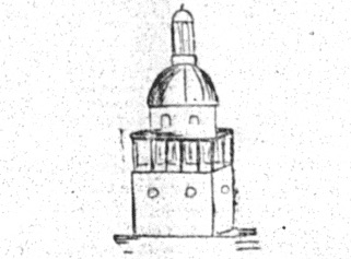 sketch of a domed building