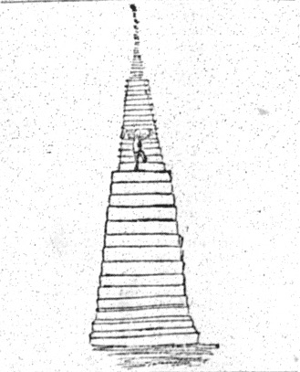 sketch of figure climbing stairs which are vanishing in the distance