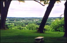 Image of View of the Mohawk Valley from Auriesville Shrine. Photo by Sherrill Harbison.