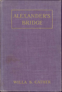 Cover of first edition of Alexander's Bridge