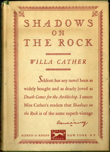 Cover of first edition of Shadows on the Rock