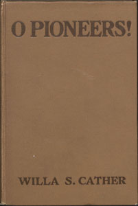Cover of first edition of O Pioneers!