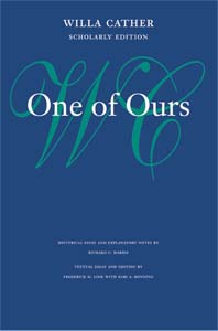 Cover of Scholarly Edition of One of Ours