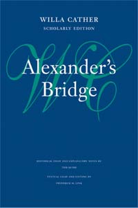Cover of Scholarly Edition of Alexander's Bridge