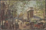 Image of postcard showing the St.-Martin's Gate in Paris, France