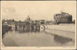 Image of postcard showing the Castel Sant'Angelo, Rome, Italy