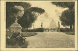 Image of front of postcard showing Villa Doria Pamphili, Rome, Italy